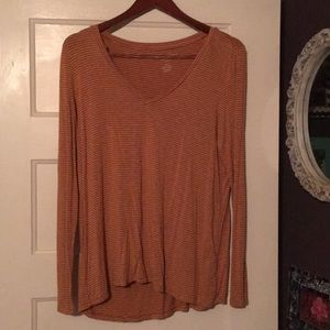 American Eagle burnt orange strip long sleeve M